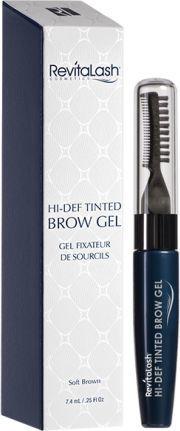 Revitalash  Hi-Def Tinted Brow Gel - stylizująco koloryzujący żel do brwi Soft Brown 7.4ml 1