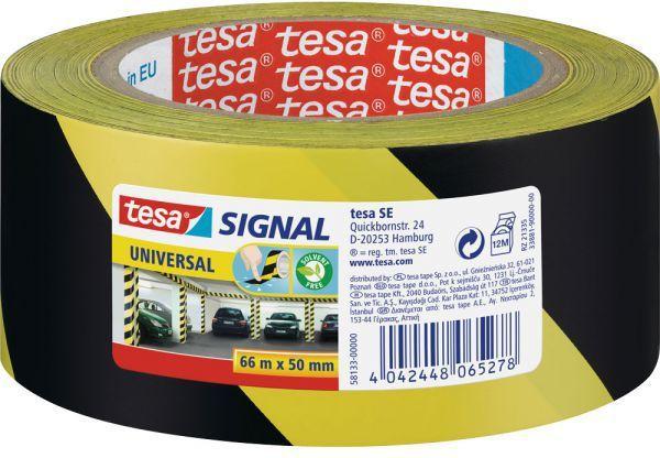 Tesa Taśma sygnałowa, 66 m x 50 mm, Żółty/czarny (11608B) 1