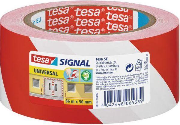 Tesa Taśma pakowa 66 m x 50 mm, Czerwony/biały (11608A) 1