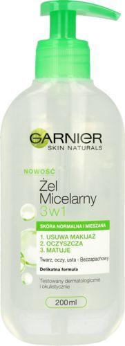 Garnier Skin Naturals żel micelarny 3w1 skóra normalna i mieszana 200ml 1
