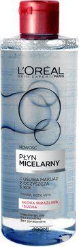 L'Oreal Paris Skin Expert Płyn micelarny - cera sucha i wrażliwa 400ml 1