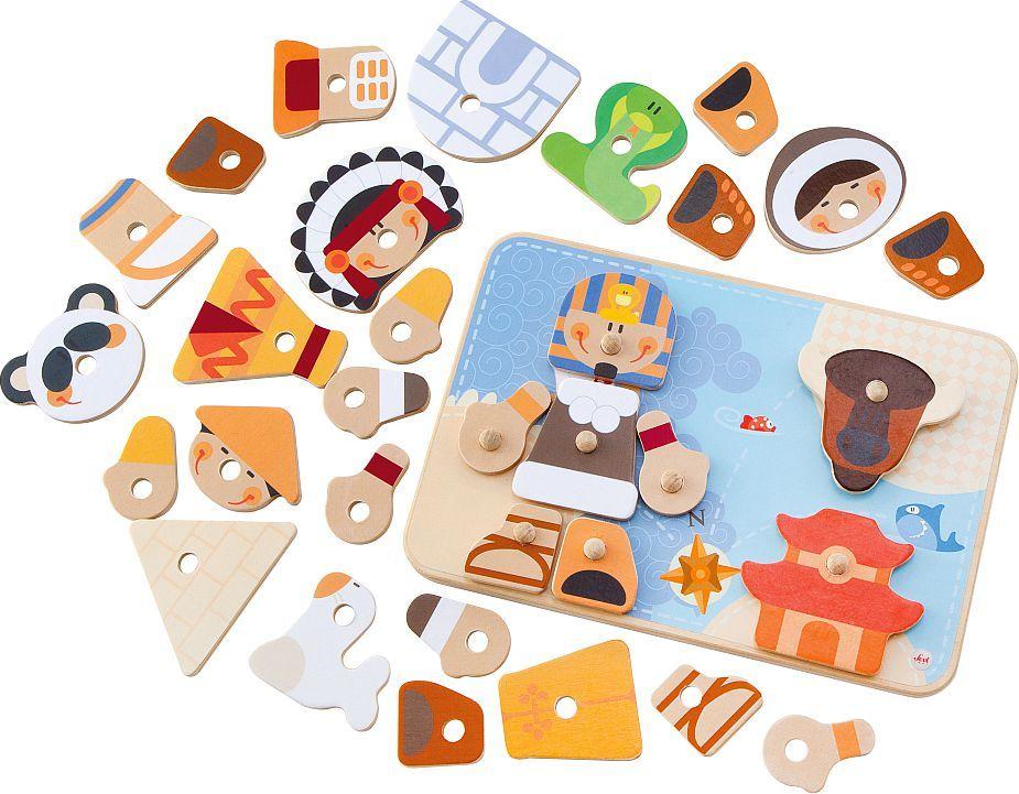 Sevi Kreatywne puzzle, Plemiona, 4w1, 32 el. (82810) 1