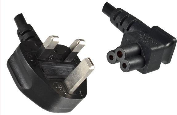 Kabel zasilający MicroConnect UK - C5 1.8m, czarny (PE090818A) 1