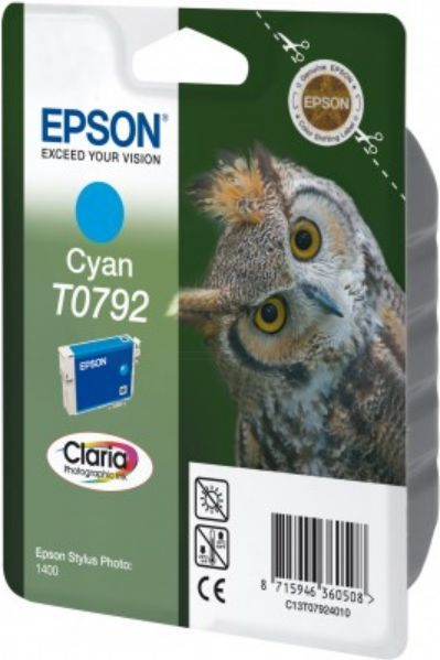 Epson Tusz T0792, cyan 1-pack RF-AM blister (C13T07924020) 1