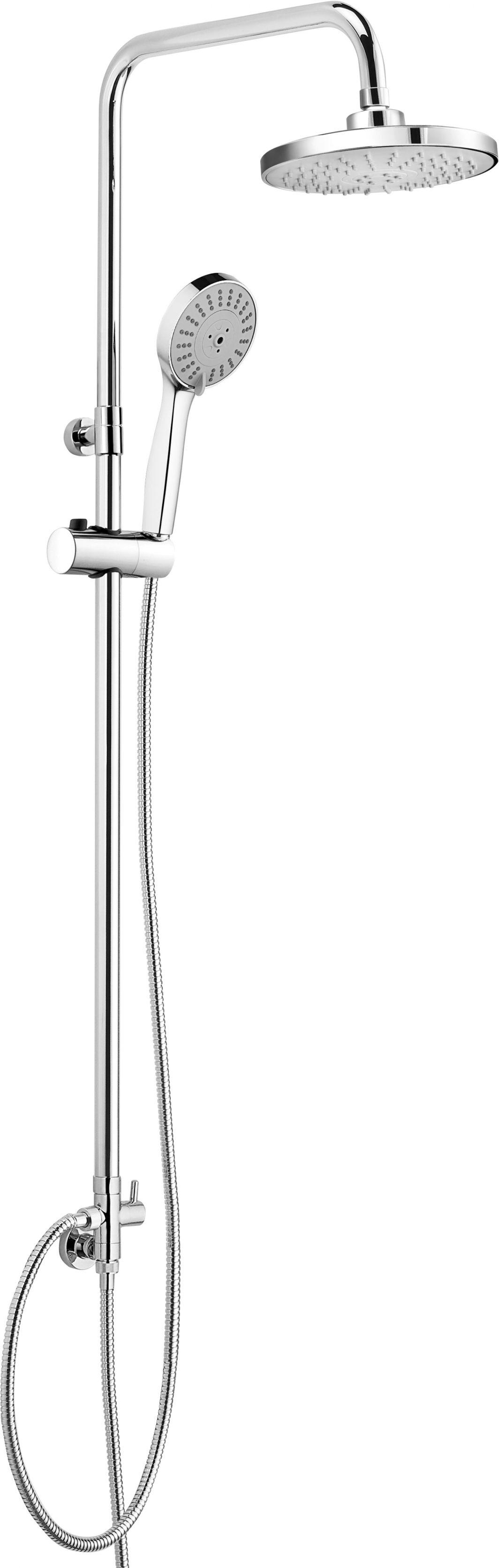Zestaw prysznicowy Deante Peonia z deszczownicą chrom (NAC 019K) 1