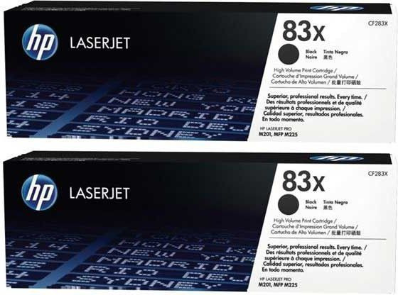 HP Toner 83X Dual Pack, Black (CF283XD) 1