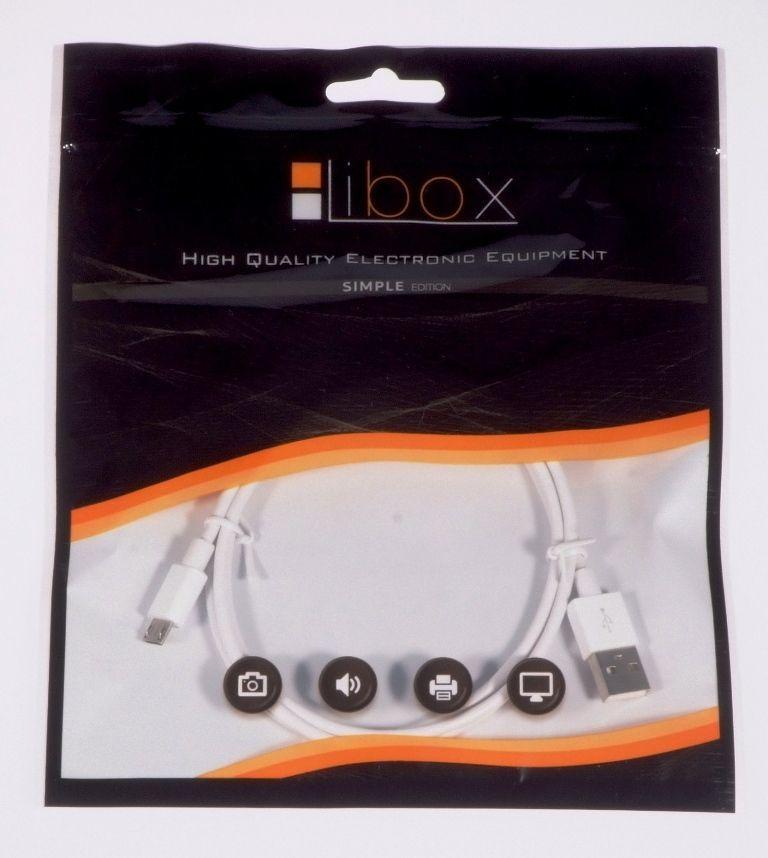 Kabel USB Libox microUSB 1m biały (LB0067B) 1