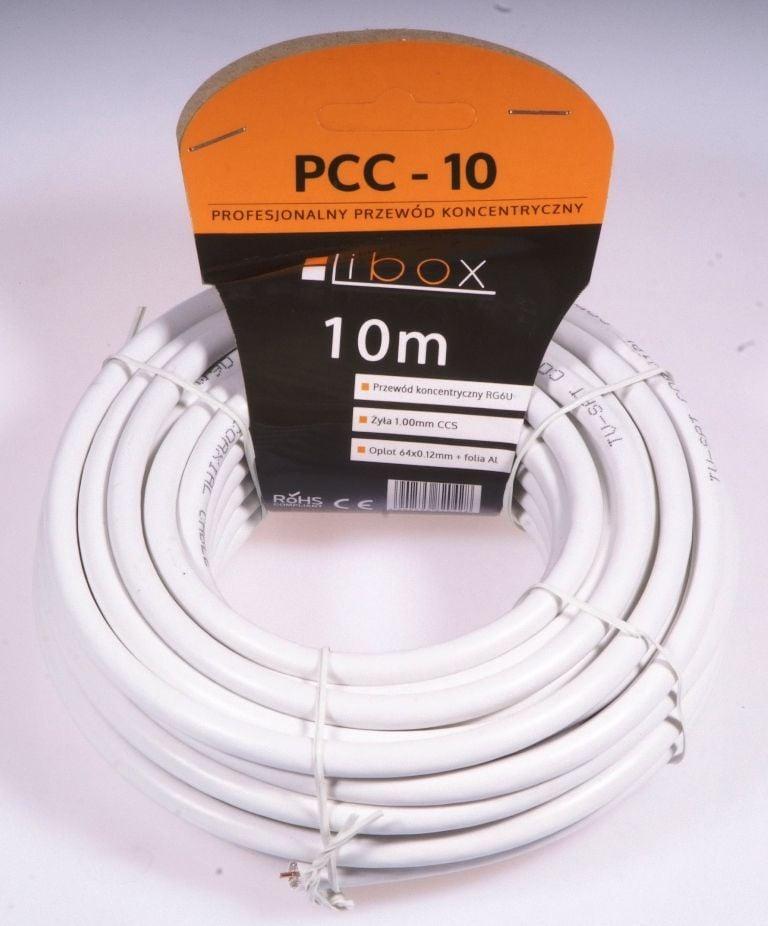 Przewód Libox Antenowy, 10, Biały (PCC10) 1
