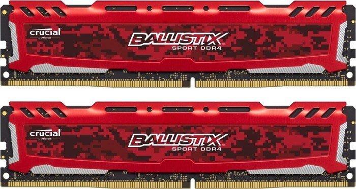 Pamięć Ballistix Ballistix Sport LT, DDR4, 8 GB, 2666MHz, CL16 (BLS2C4G4D26BFSE) 1
