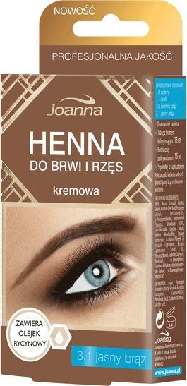Joanna Henna Do Brwi I Rzęs Kremowa Nr 31 Jasny Brąz 15ml W Amforapl