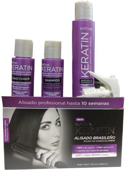 Kativa ALISADO BRASILENO XPRESS Zestaw do keratynowego prostowania włosów EXPRESS 1