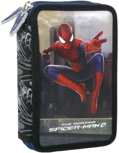 Piórnik Derform Piórnik podwójny z wyposażeniem Amazing Spider-Man 1