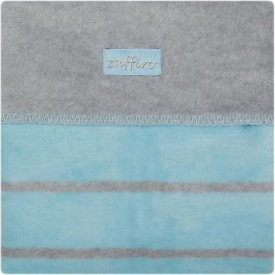Womar Koc 100% bawełna 75X100 Paski niebieski/szary 1