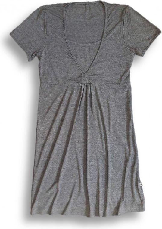 Nanaf Organic Bambusowa koszula nocna - ciemnoszary melanż XL (NC-001XL) 1