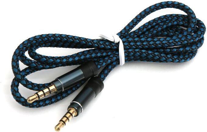 Kabel Omega Jack 3.5mm - Jack 3.5mm 1m czarny niebieski 1