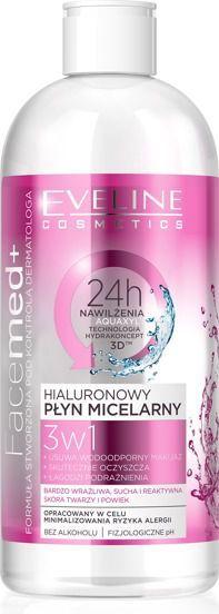 Eveline FACEMED+ Płyn miceralny hialuronowy 3w1 400ml 1