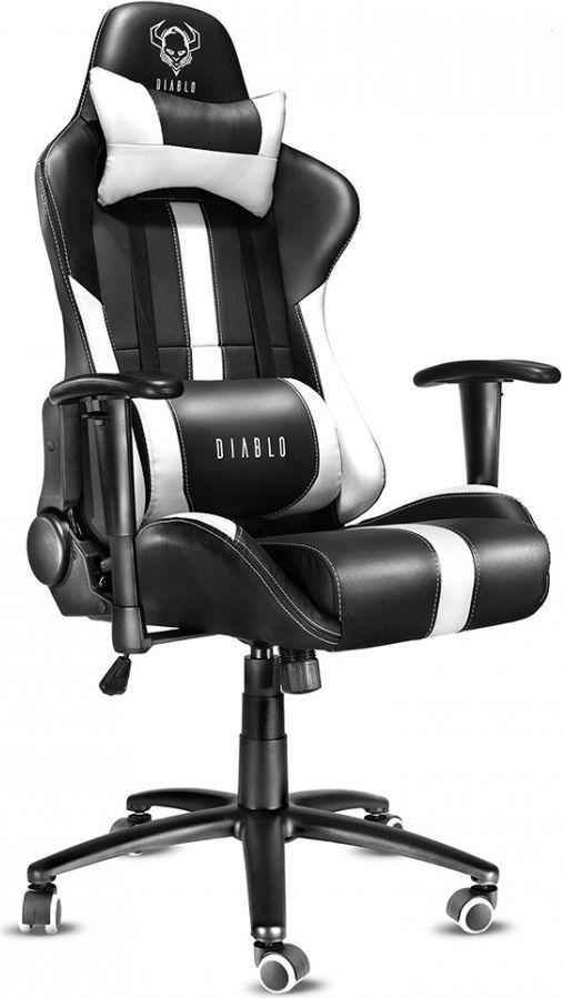 Fotel Diablo Chairs X-Player Czarno-biały 1