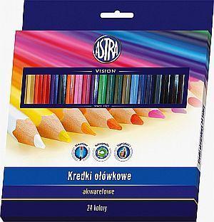 Astra Kredki ołówkowe akwarelowe 24 kolory 1