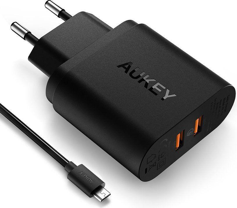 Ładowarka Aukey 2xUSB Quick Charge 3.0 6A 36W (PA-T16) 1