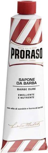 Proraso Proraso Red Mydło do golenia twardego zarostu w wygodnej tubce 150 ml 1