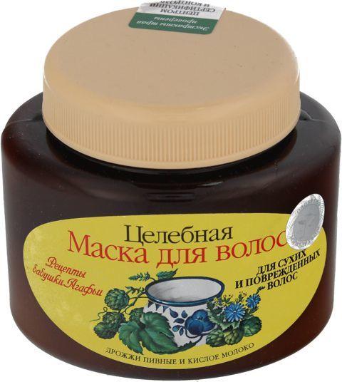 Babuszka Agafia Maska do włosów na bazie drożdży piwnych i kwaśnego mleka 250ml 1
