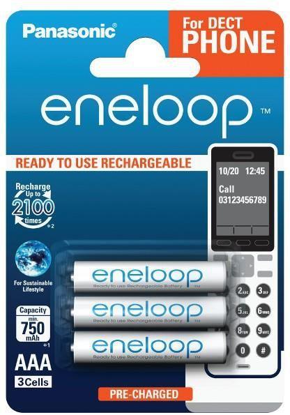 Panasonic Akumulator Eneloop AAA / R03 750mAh 3szt. 1