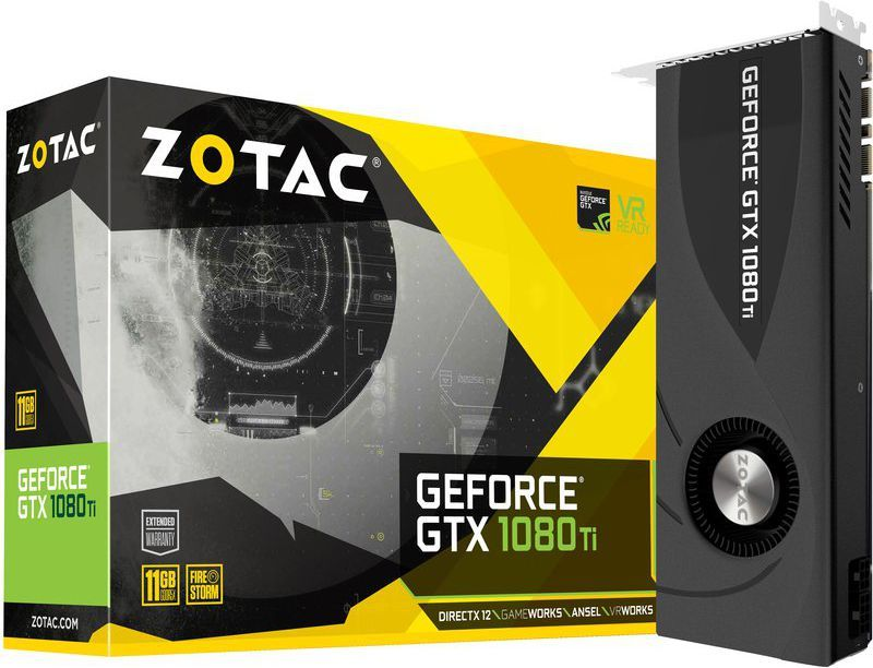 Karta graficzna Zotac GeForce GTX 1080 Ti Blower 11GB GDDR5X (352 bit), HDMI, 3x DP, BOX (ZT-P10810B-10P) 1