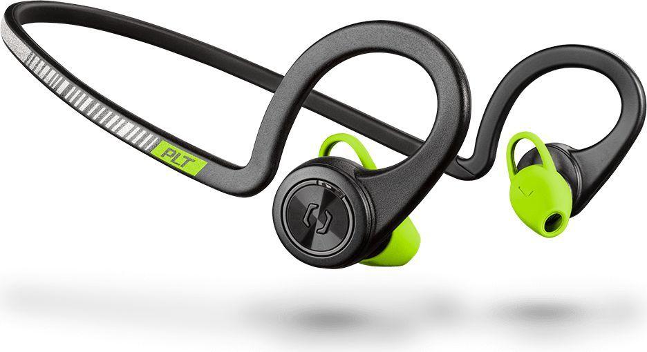 Słuchawki Plantronics BackBeat Fit Czarno-zielone (206005-05) 1