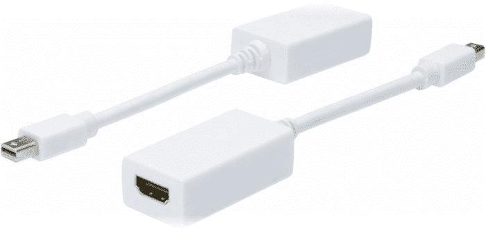 Adapter AV Digitus DisplayPort Mini - HDMI biały (AK-340411-001-W) 1