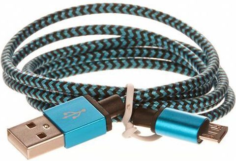 Kabel USB Cellfish USB A -> Micro USB (M/M) Niebieski 1m (PLUSBKABELBLUE) 1