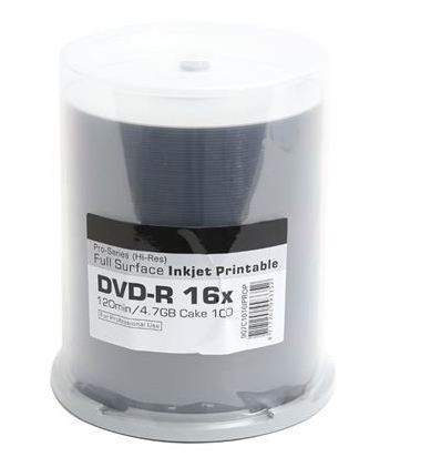Traxdata Płyta DVD-R, 4.7GB, 16X, biały, INK-PRINT, 100 sztuk (907C1016IPROP) 1
