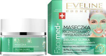 Eveline Facemed+ Maseczka oczyszczająco-wygładzająca Zielona Glinka 50ml 1