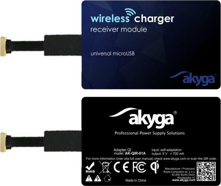 Akyga Ładowarka indukcyjna, micro USB (AKKADAKYQI000001) 1