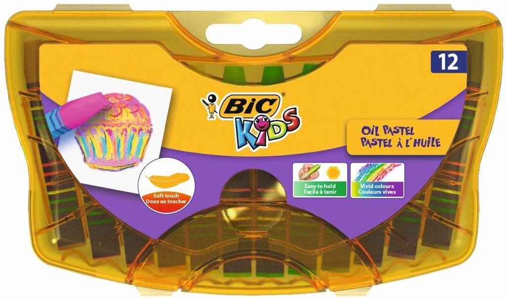 Bic Kredki pastele olejne w plast. pudełku 12kol 933957 - BONUS 933957 1