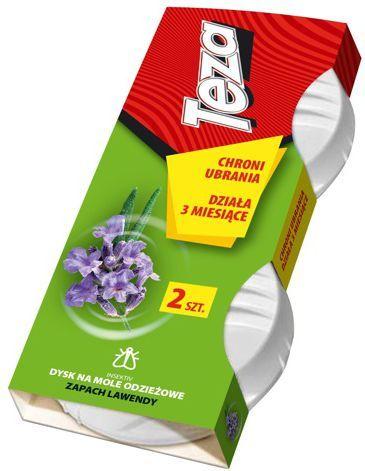Sarantis Teza Dysk na mole odzieżowe - zapach lawendowy 2szt 1