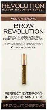 Makeup Revolution Brow Revolution Żel do brwi Medium Brown 3.8g 1