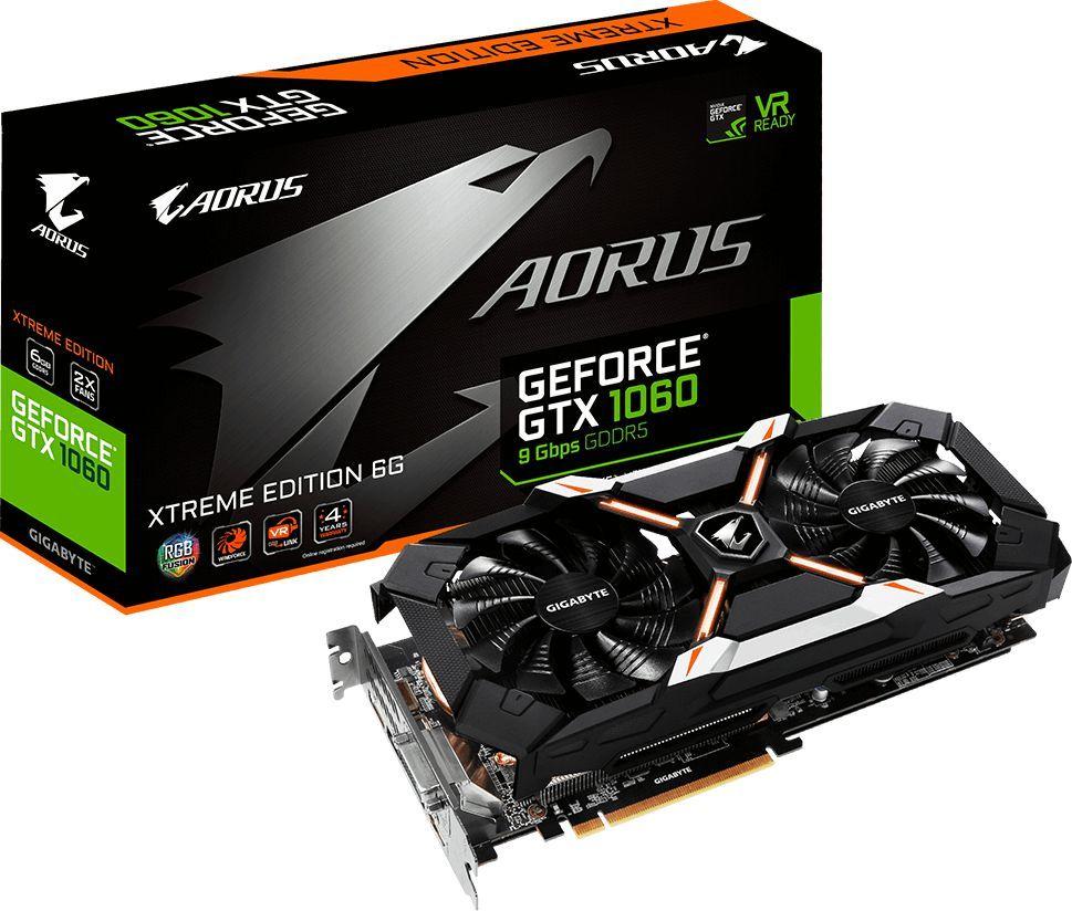 Karta graficzna Gigabyte GeForce GTX 1060 Aorus Xtreme 6G, 6GB GDDR5 (192 BIT), DVI-D, HDMI, 3x DP, BOX (GV-N1060AORUS X-6GD) 1