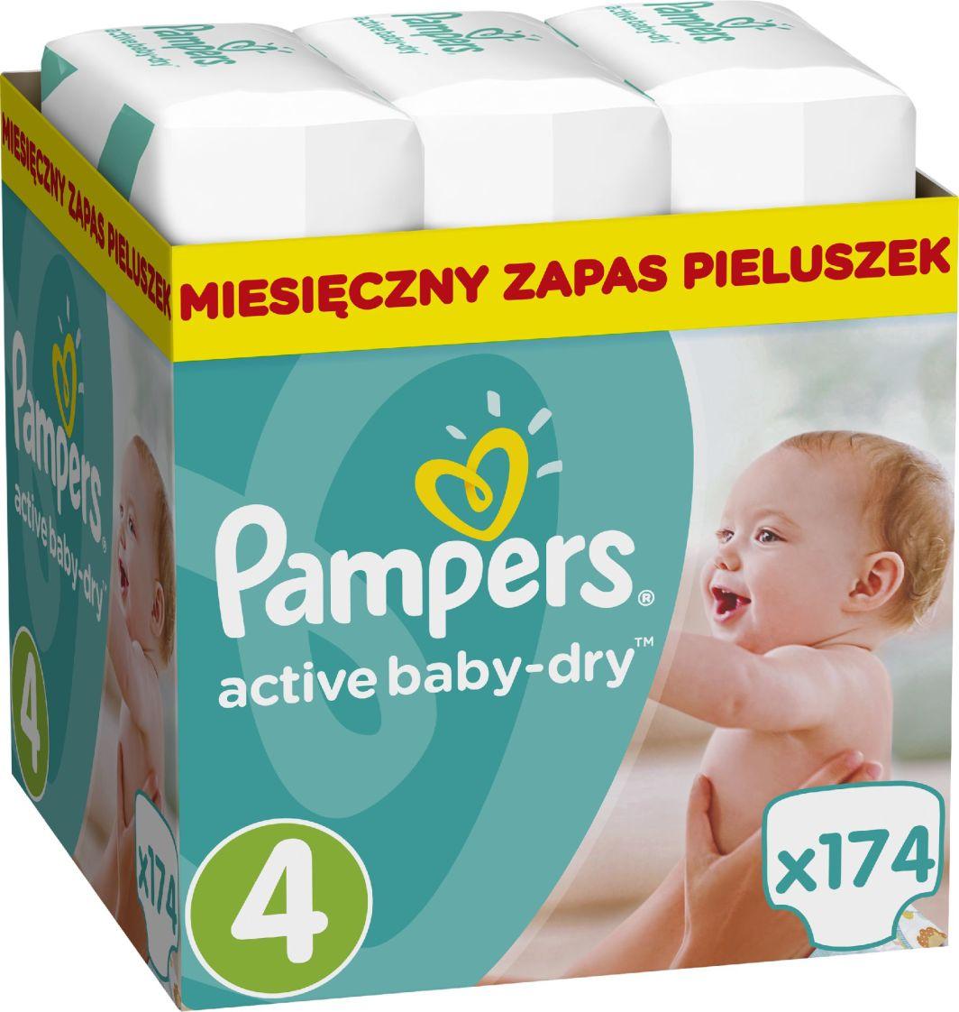 Pampers Active Baby-Dry rozmiar 4 (Maxi), 174 pieluszki 1