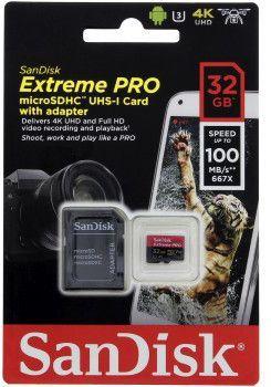Karta SanDisk Extreme Pro MicroSDHC 32 GB Class 10 UHS-I/U3 A1 V30 (001734270000) 1