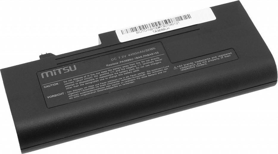 Bateria Mitsu do Toshiba NB100, 4400 mAh, 7.2V 1