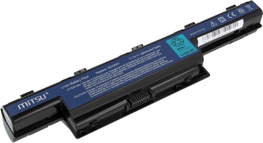 Bateria Mitsu do Acer Aspire 4551, 4741, 5741, 6600 mAh, 11.1V (BC/AC-4551H) 1
