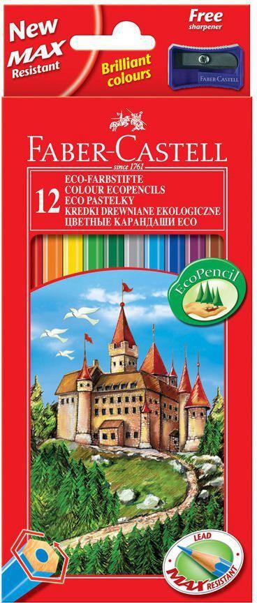 Faber-Castell Kredki ołówkowe 12 kolorów Zamek 120112LE 1