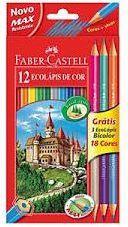 Faber-Castell Kredki 12 kolorów + 3 kredki z temperówką Zamek 120112+3IT - WIKR-1018284 1