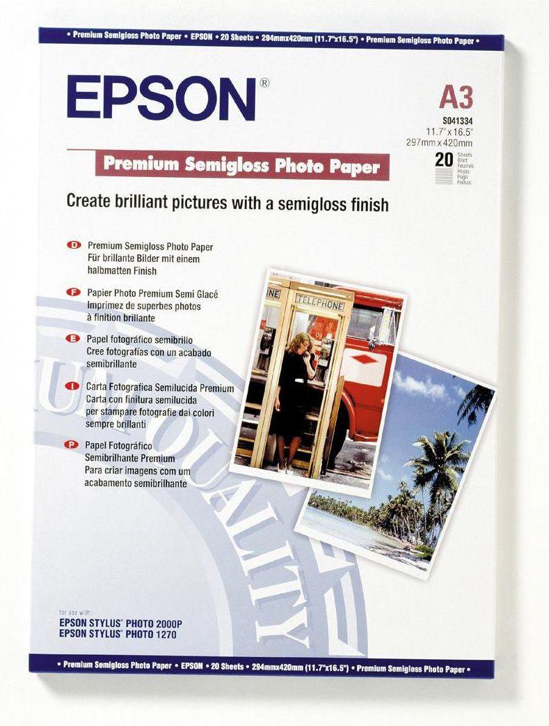 Epson Papier fotograficzny do drukarki A3 (C13S041334) 1