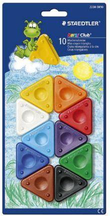 Staedtler Trójkątne kredki świecowe 10 kolorów Noris Club - WIKR-0983613 1