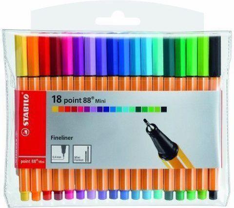 Stabilo Cienkopis mini 18 kolorów - WIKR-1038720 1