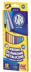 Astra Kredki 12 kolorów okrągłe metaliczne 1