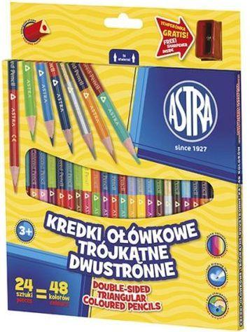 Astra Kredki ołówkowe dwustronne trójkątne 24 = 48 kolorów 1