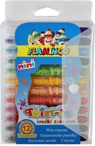 Flamingo Kredki 12 kolorów Twist-it (WIKR-974468) 1