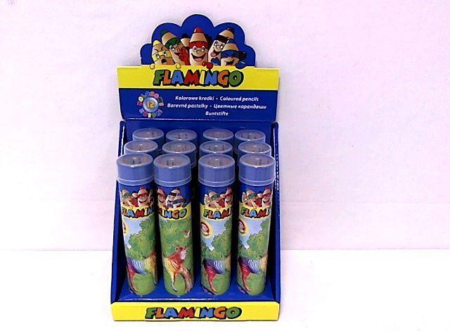 Flamingo Kredki 12 kolorów w metalowej tubie (WIKR-974492) 1